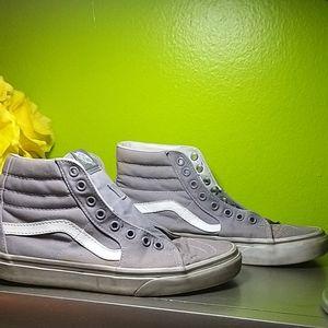 Vans SK8-HI Gray High Top Canvas Sneakers Size 6.5